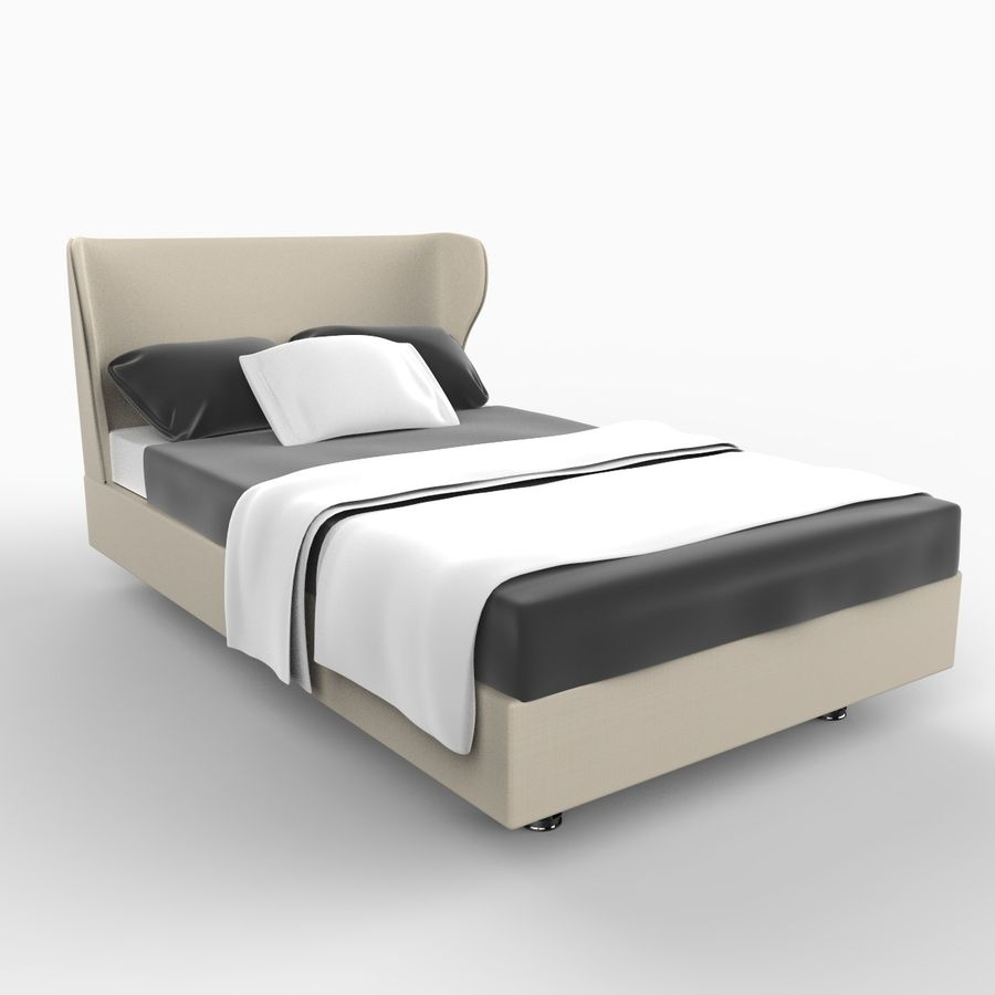 Rea Bed royalty-free 3d model - Preview no. 1