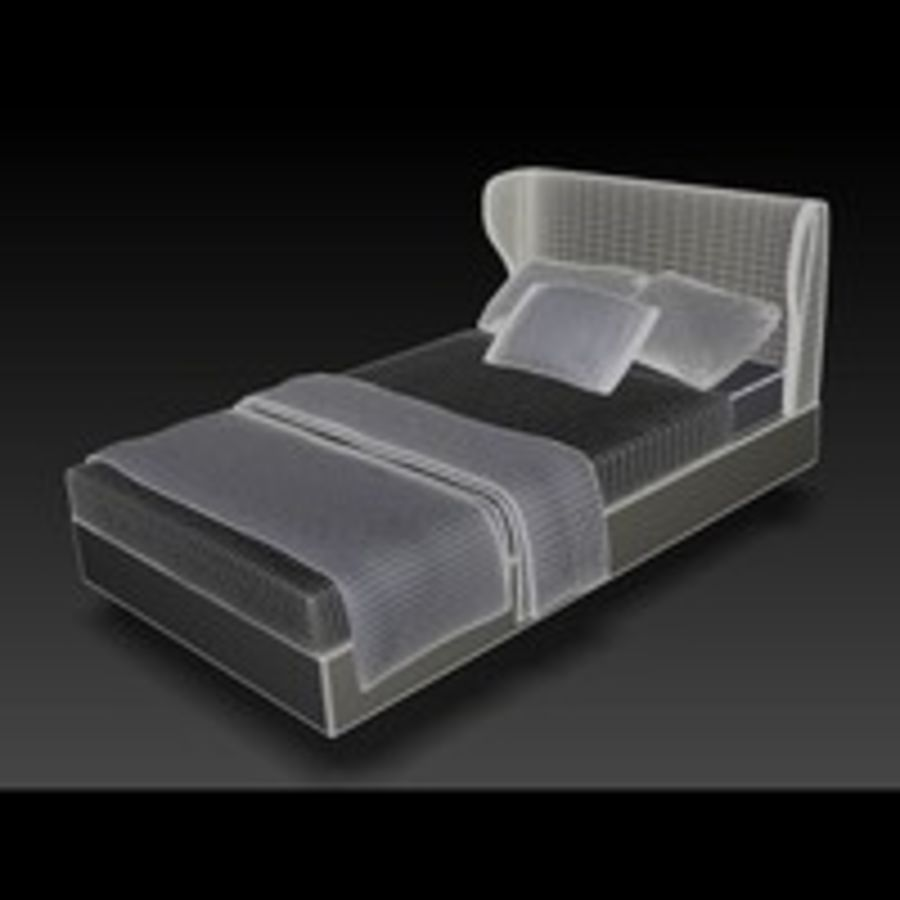 Rea Bed royalty-free 3d model - Preview no. 5