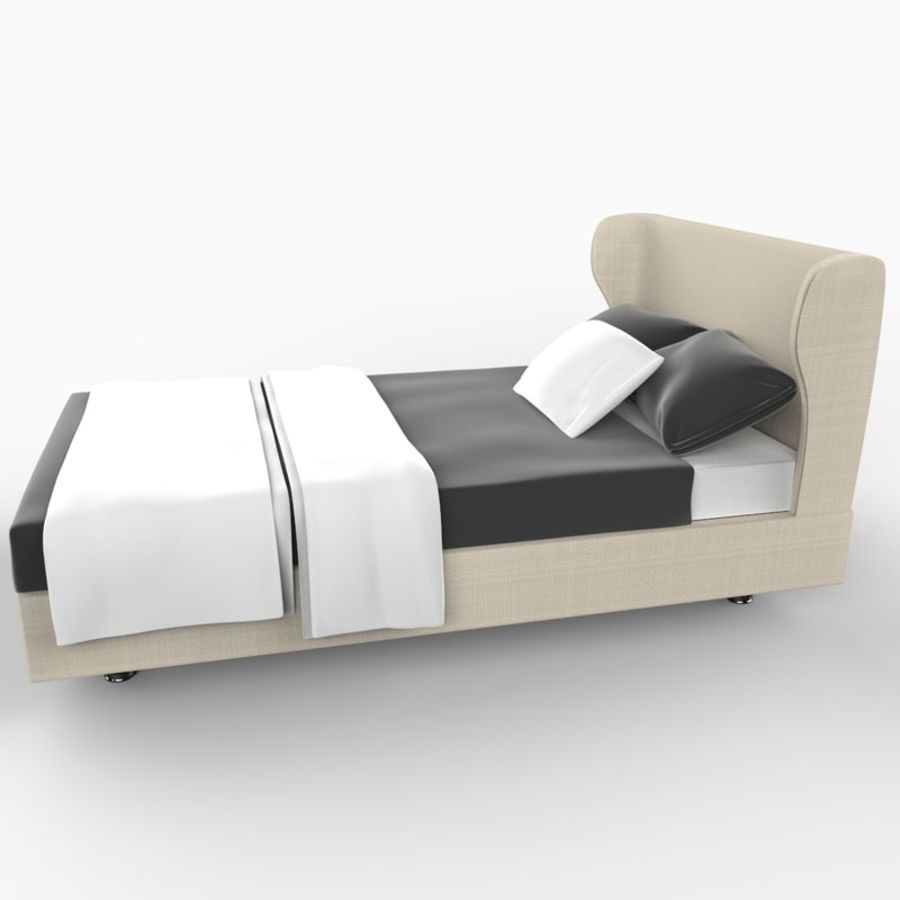 Rea Bed royalty-free 3d model - Preview no. 3