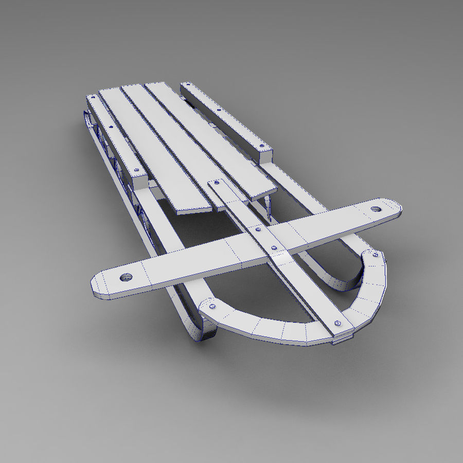 Sled royalty-free 3d model - Preview no. 5