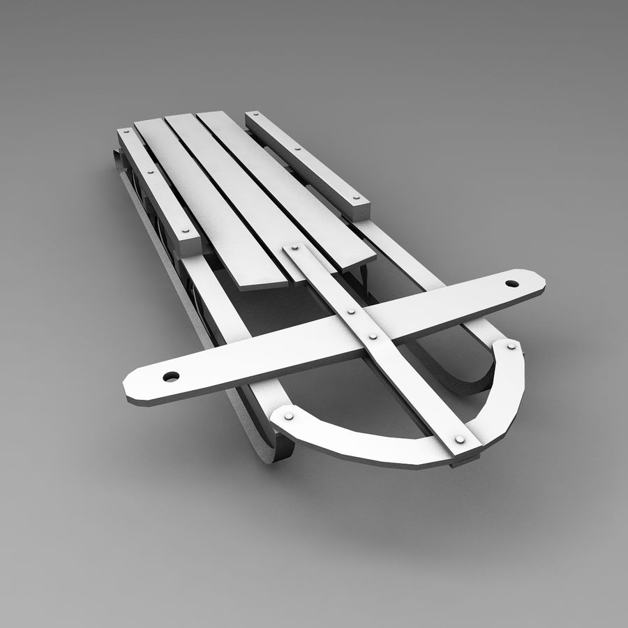 Sled royalty-free 3d model - Preview no. 4