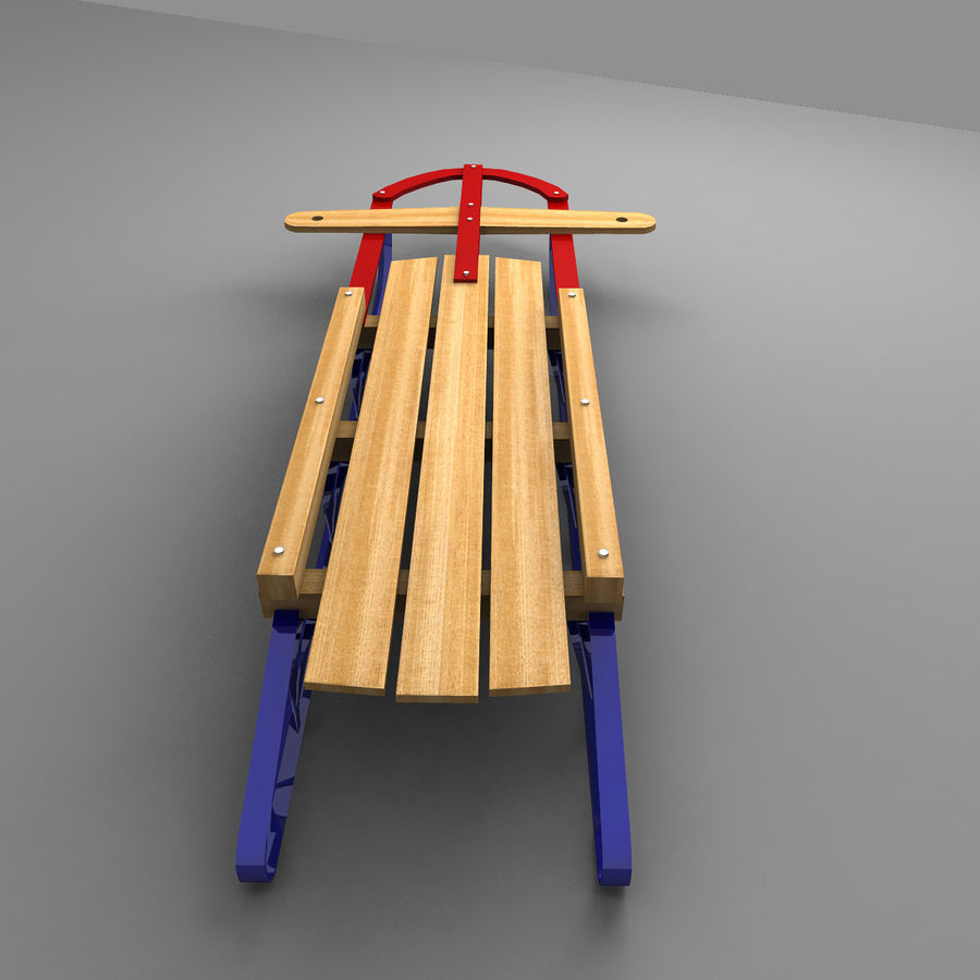 Sled royalty-free 3d model - Preview no. 3