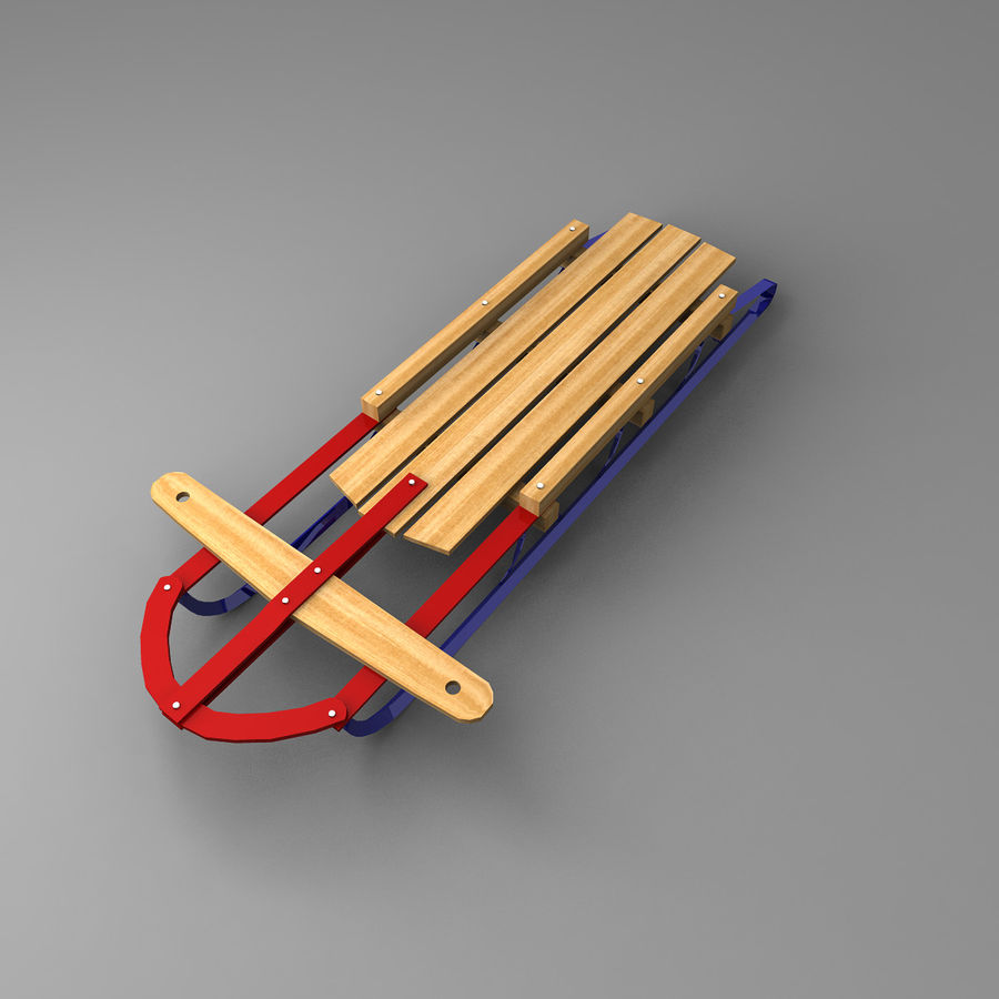 Sled royalty-free 3d model - Preview no. 2