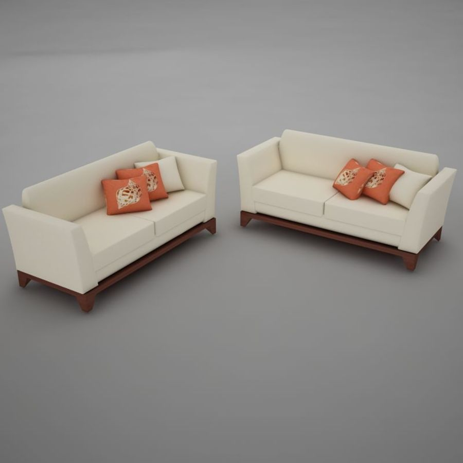 nowoczesny basen z sofą royalty-free 3d model - Preview no. 4