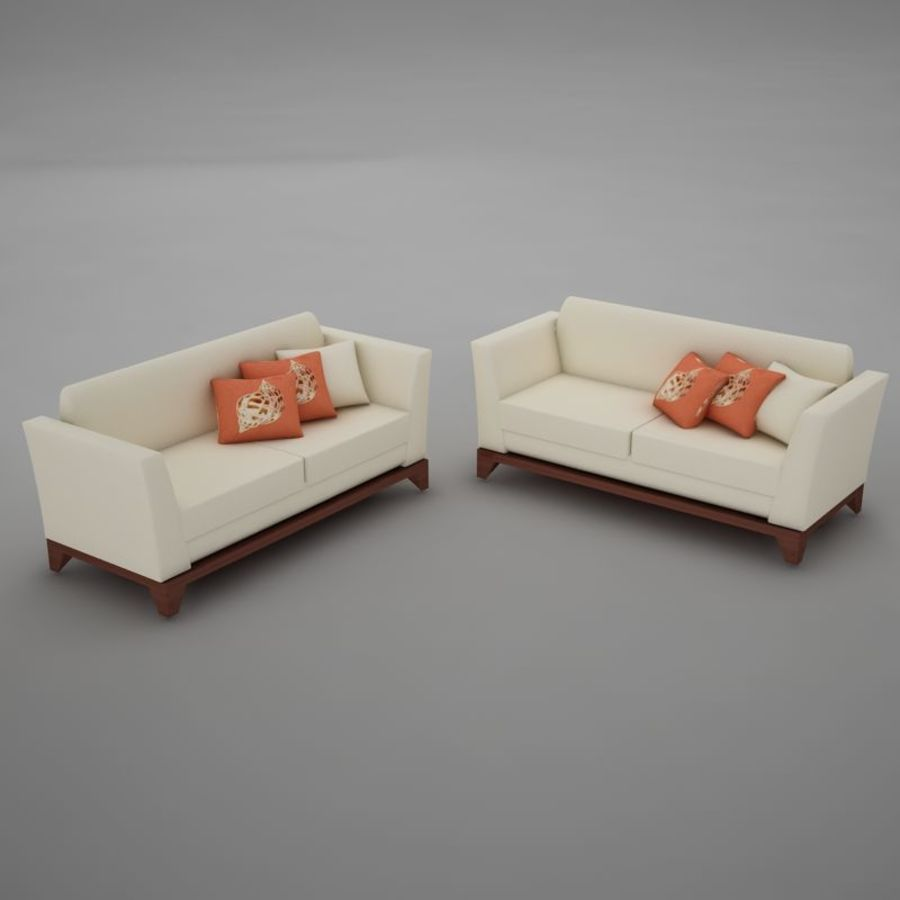 nowoczesny basen z sofą royalty-free 3d model - Preview no. 6