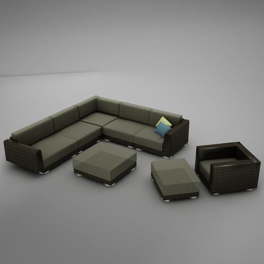 kanepe veranda 4 royalty-free 3d model - Preview no. 2