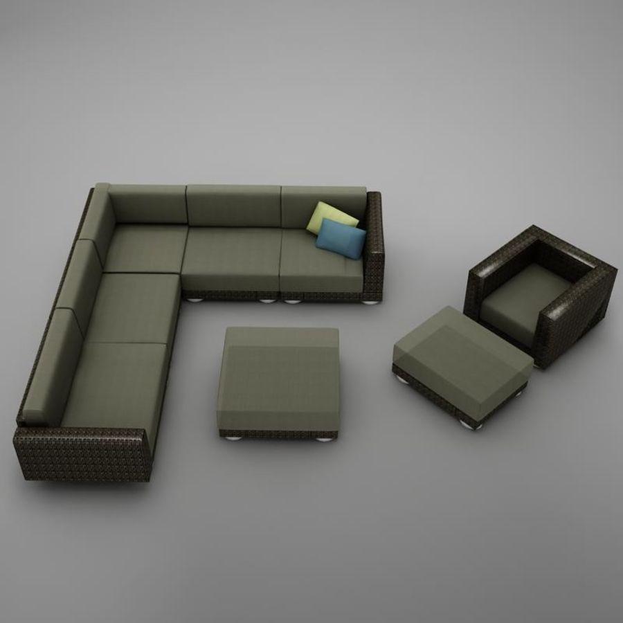 kanepe veranda 4 royalty-free 3d model - Preview no. 10