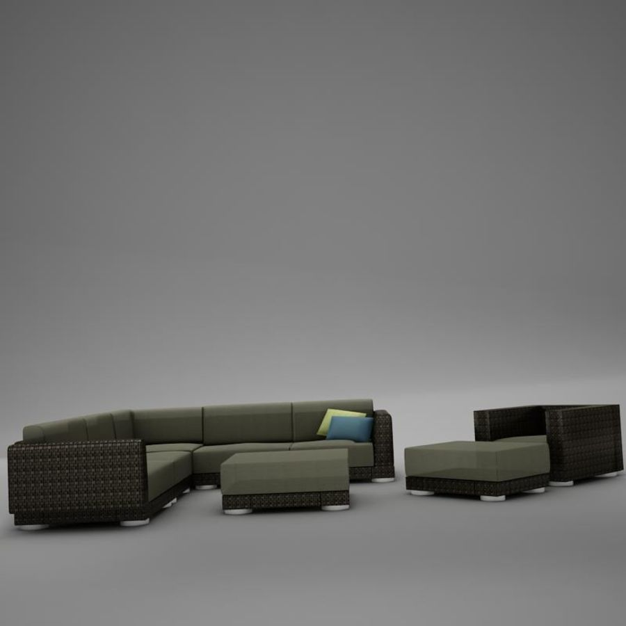 kanepe veranda 4 royalty-free 3d model - Preview no. 7