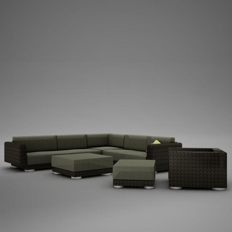 kanepe veranda 4 royalty-free 3d model - Preview no. 4