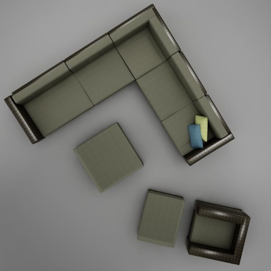 kanepe veranda 4 royalty-free 3d model - Preview no. 5