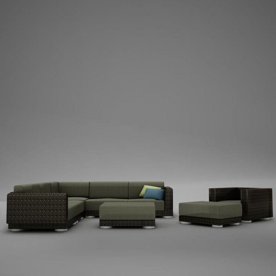 kanepe veranda 4 royalty-free 3d model - Preview no. 8