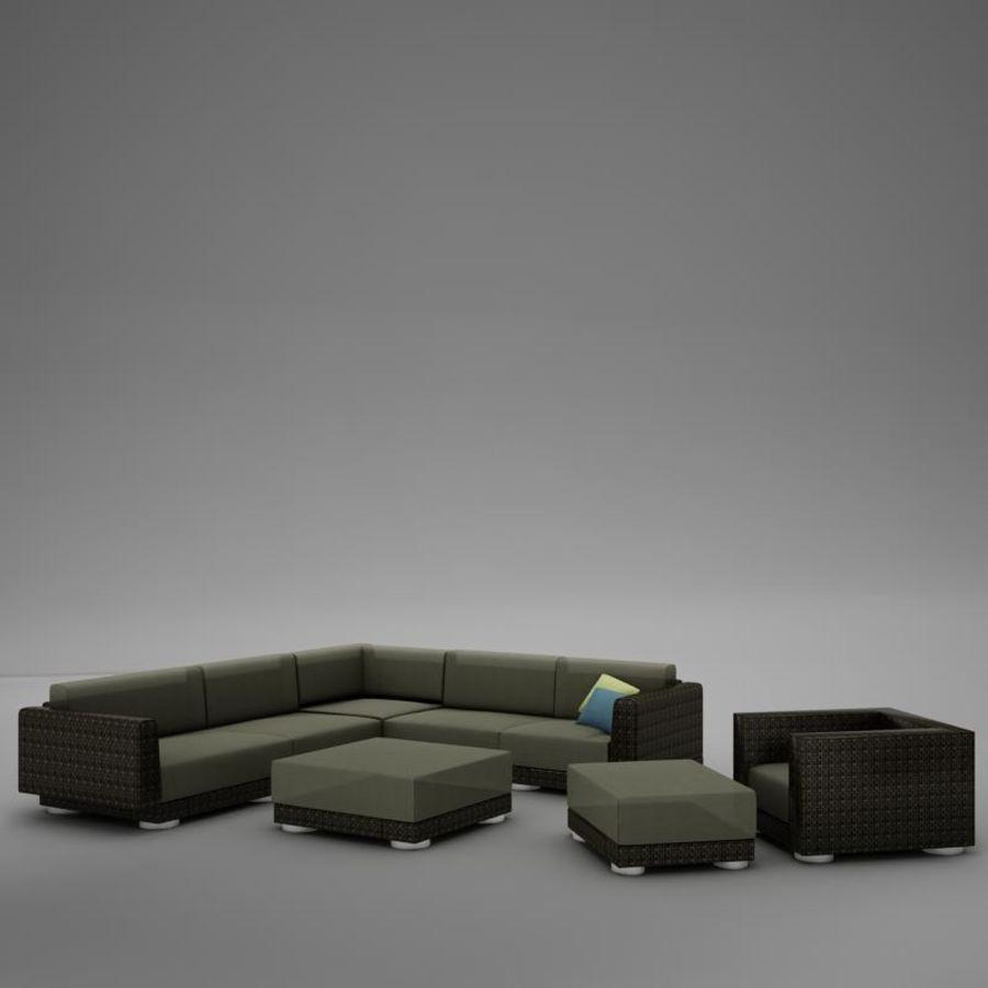 kanepe veranda 4 royalty-free 3d model - Preview no. 3