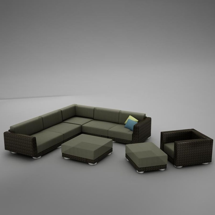 kanepe veranda 4 royalty-free 3d model - Preview no. 6