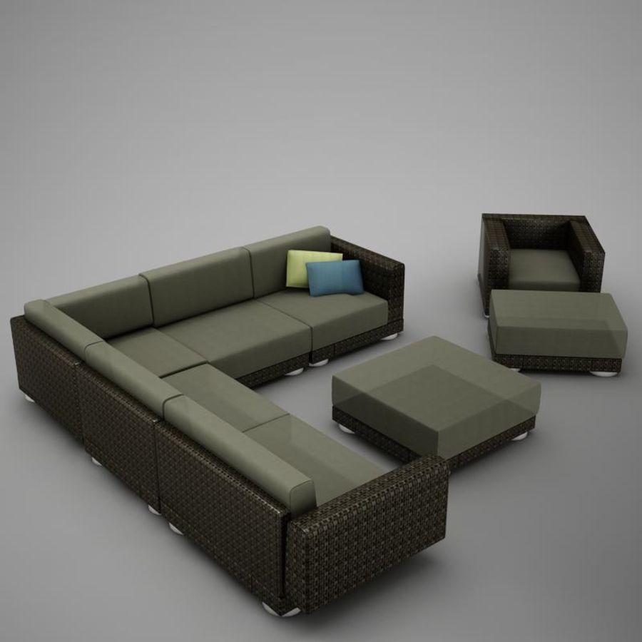 kanepe veranda 4 royalty-free 3d model - Preview no. 1