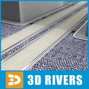 3DRivers tarafından asfalt yol tramvay 3d model