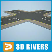 Roads by 3DRivers 3d model