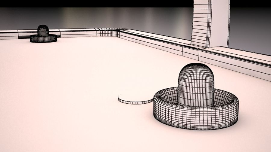AirHockey Ver 2 royalty-free modelo 3d - Preview no. 7