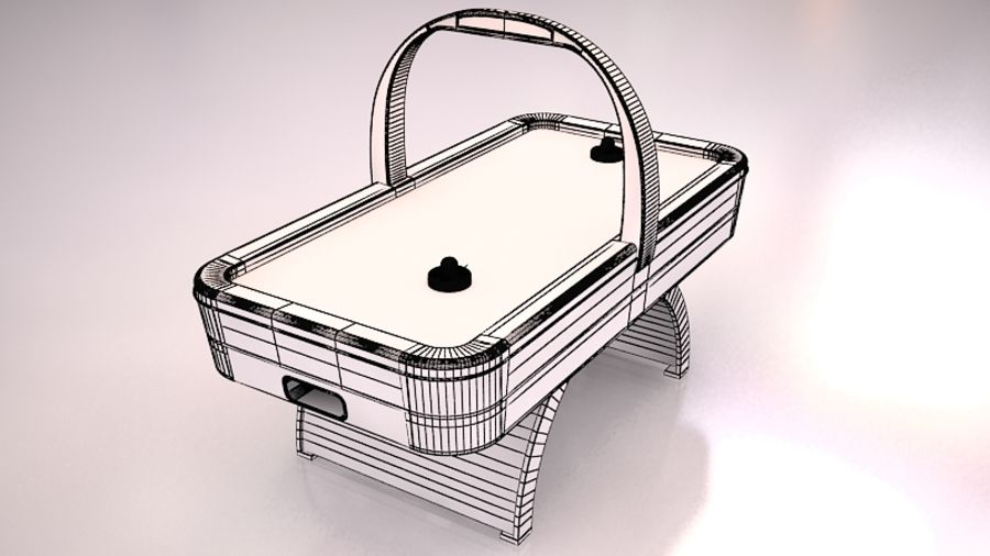 AirHockey Ver 2 royalty-free modelo 3d - Preview no. 6