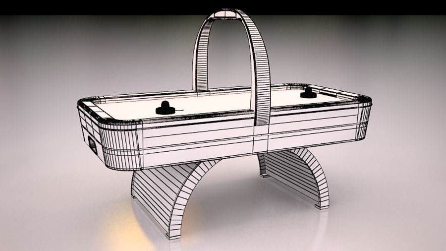 AirHockey Ver 2 royalty-free modelo 3d - Preview no. 8
