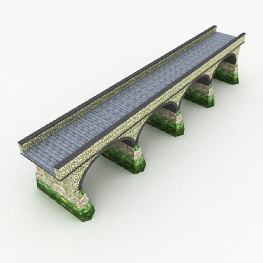 Stone bridge by 3DRivers royalty-free 3d model - Preview no. 4