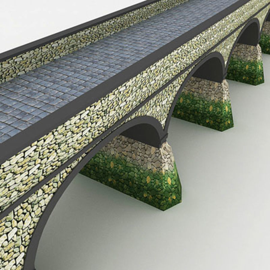 Stone bridge by 3DRivers royalty-free 3d model - Preview no. 5