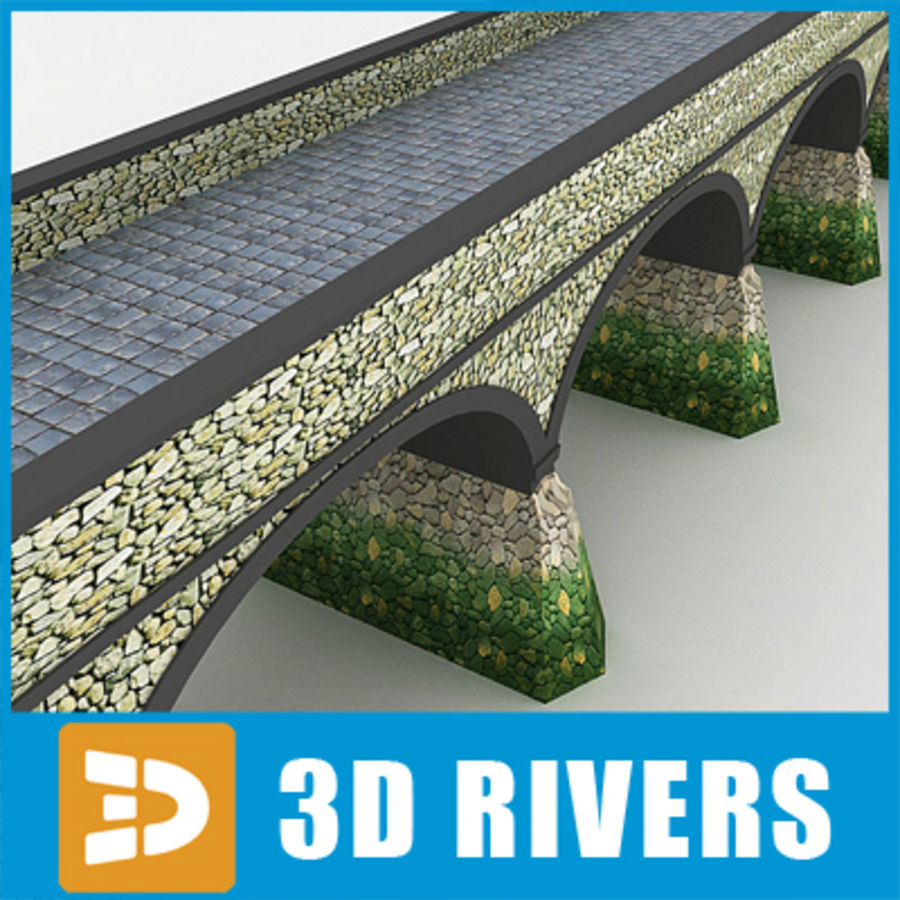 Stone bridge by 3DRivers royalty-free 3d model - Preview no. 1