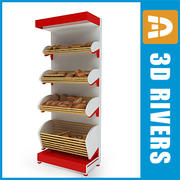 Bread shelf with bread by 3DRivers 3d model