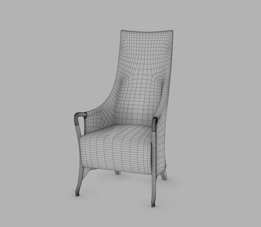 Progetti wing chair 3d model 19 max obj fbx 3ds for Progetti 3d