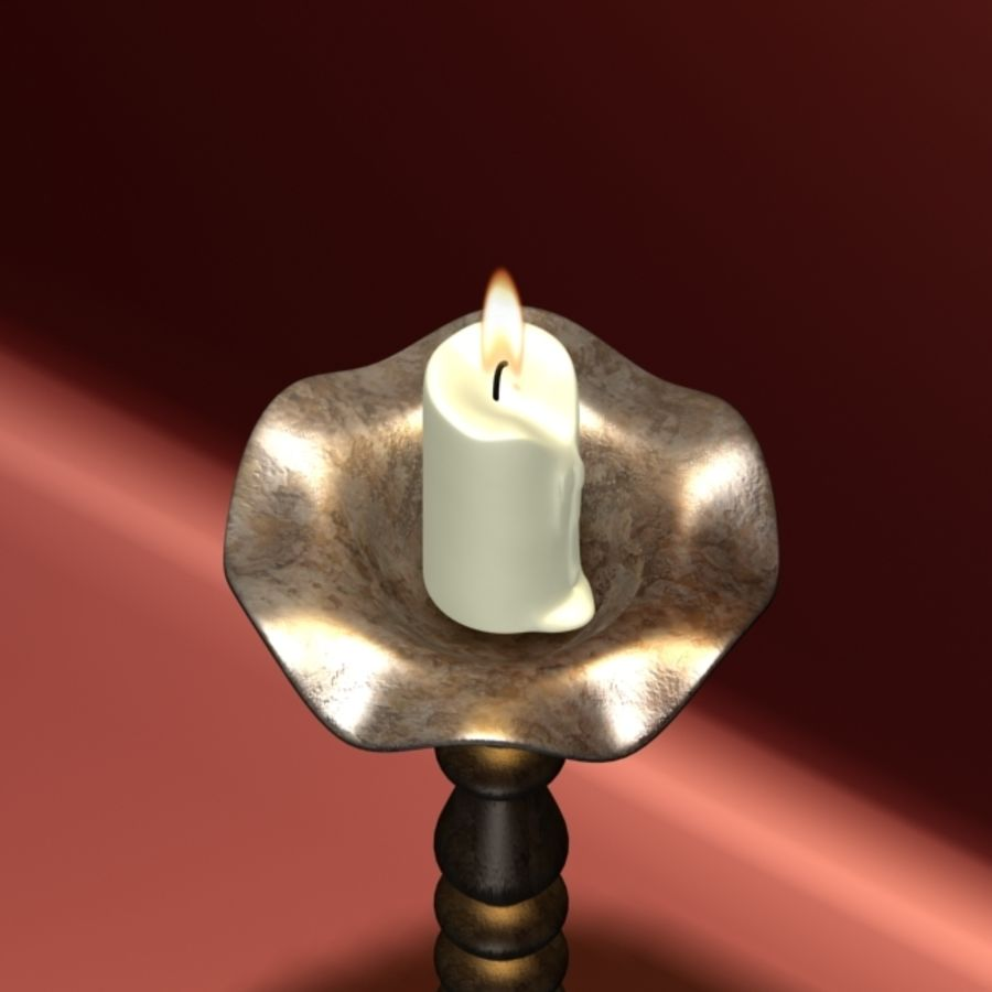 Candlestick royalty-free 3d model - Preview no. 2