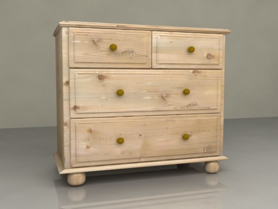 Cupboard Chest of Drawers 3x2 from Harvest Oak Wood Bedroom ...