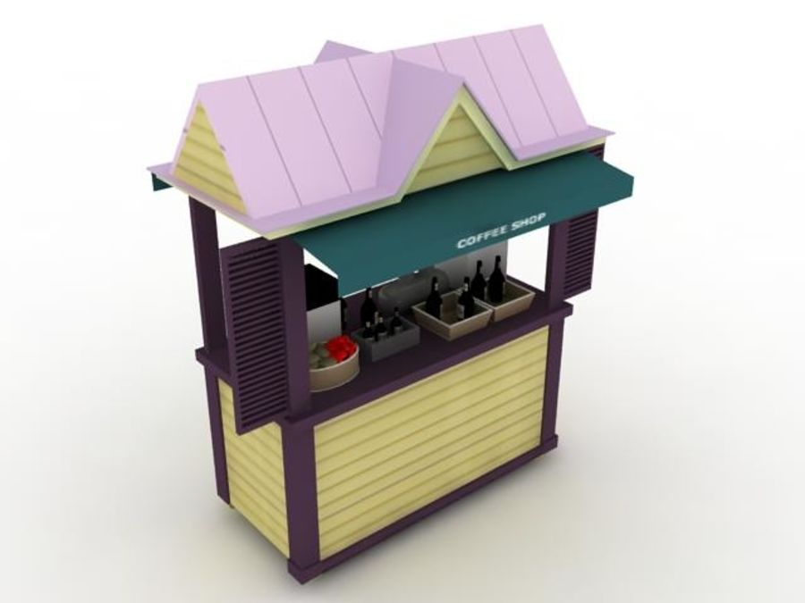 Coffee Shop - High Quality 3d model royalty-free 3d model - Preview no. 1