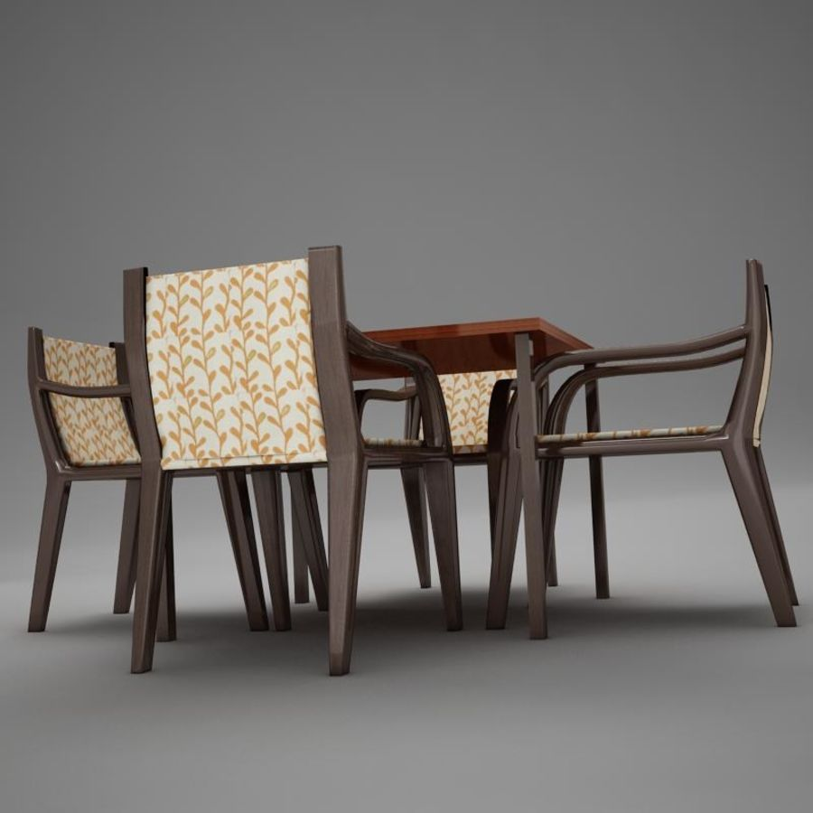 terrace dinning set modern tropic royalty-free 3d model - Preview no. 6