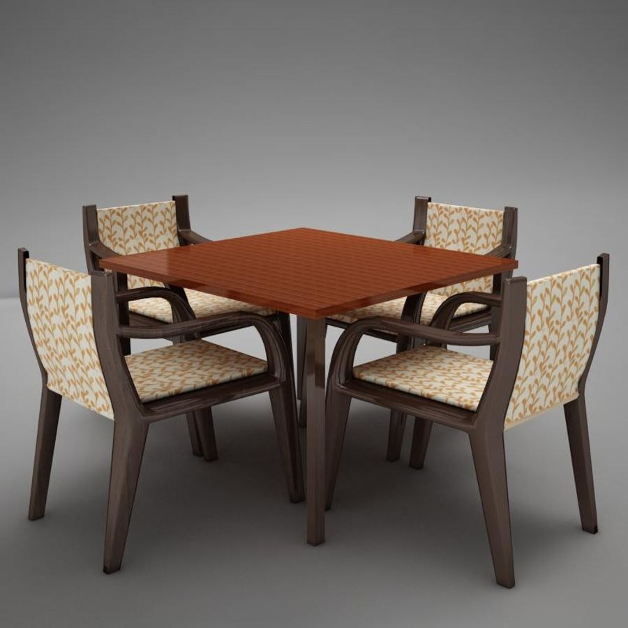 terrace dinning set modern tropic royalty-free 3d model - Preview no. 5