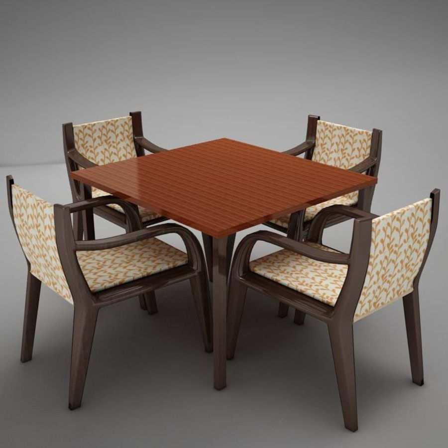 terrace dinning set modern tropic royalty-free 3d model - Preview no. 8