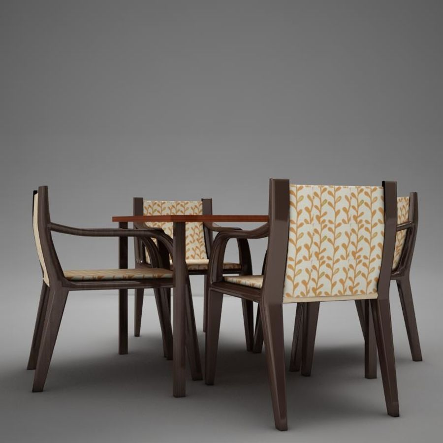 terrace dinning set modern tropic royalty-free 3d model - Preview no. 3