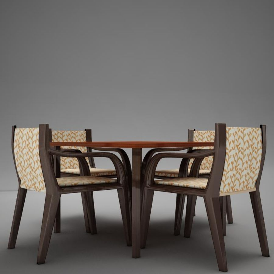 terrace dinning set modern tropic royalty-free 3d model - Preview no. 1