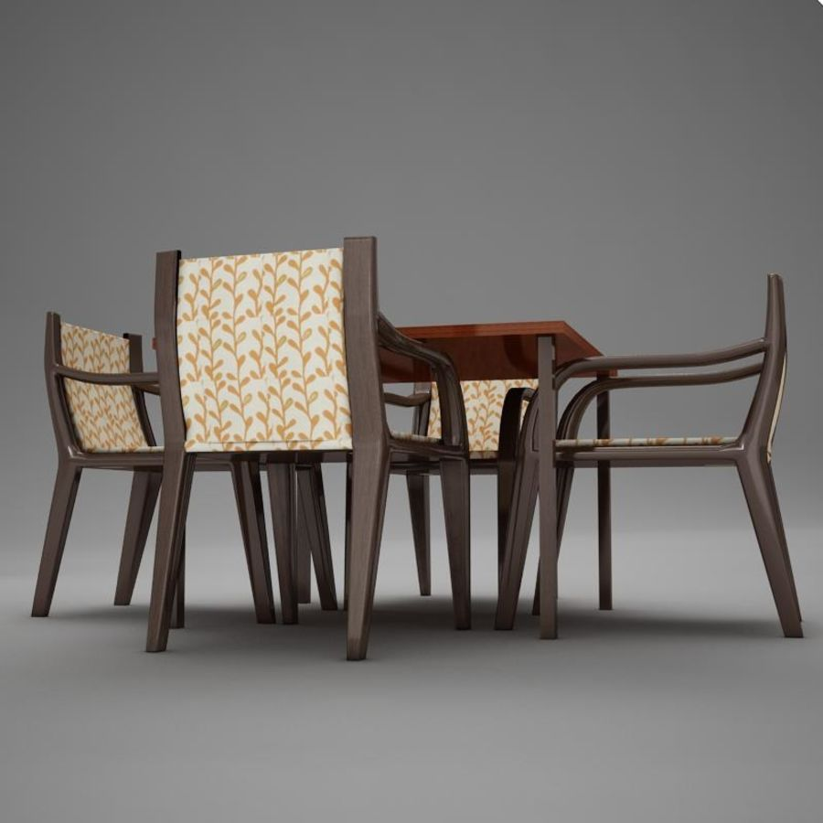 terrace dinning set modern tropic royalty-free 3d model - Preview no. 7