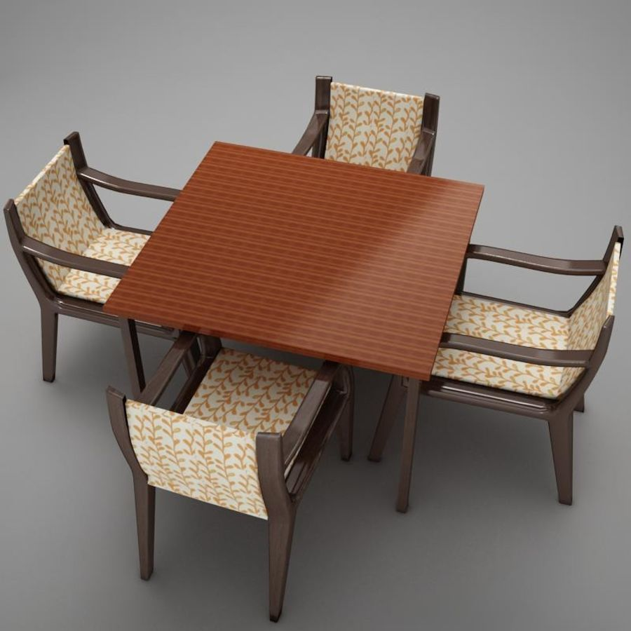 terrace dinning set modern tropic royalty-free 3d model - Preview no. 10