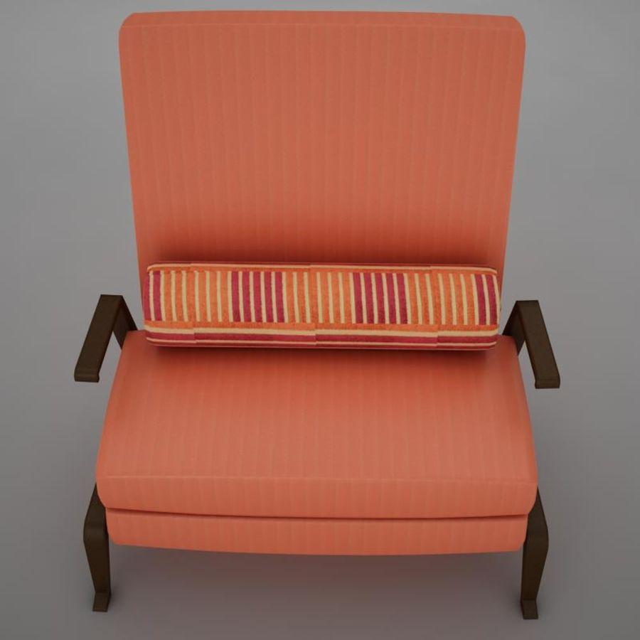 Stuhl moderner tropischer Klassiker royalty-free 3d model - Preview no. 3