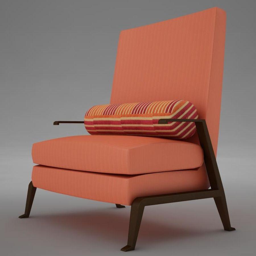 Stuhl moderner tropischer Klassiker royalty-free 3d model - Preview no. 2
