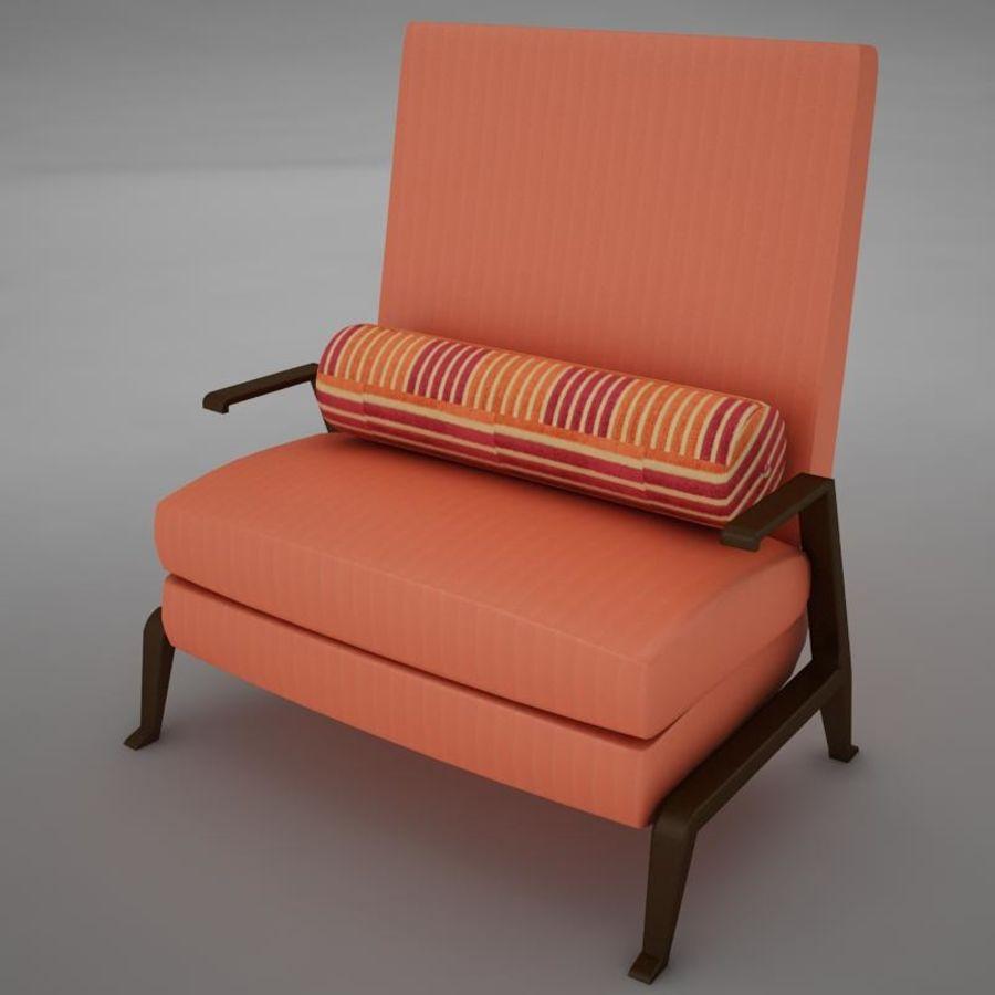 Stuhl moderner tropischer Klassiker royalty-free 3d model - Preview no. 5
