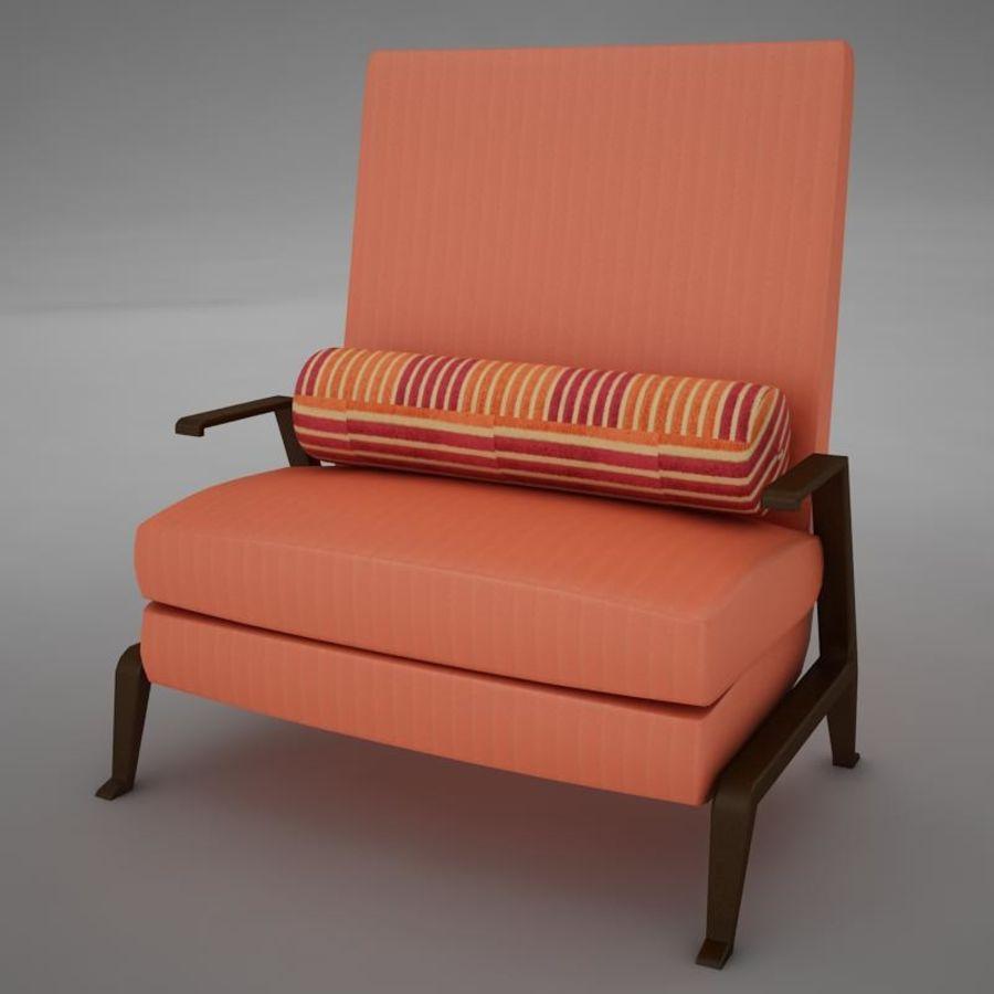 Stuhl moderner tropischer Klassiker royalty-free 3d model - Preview no. 6