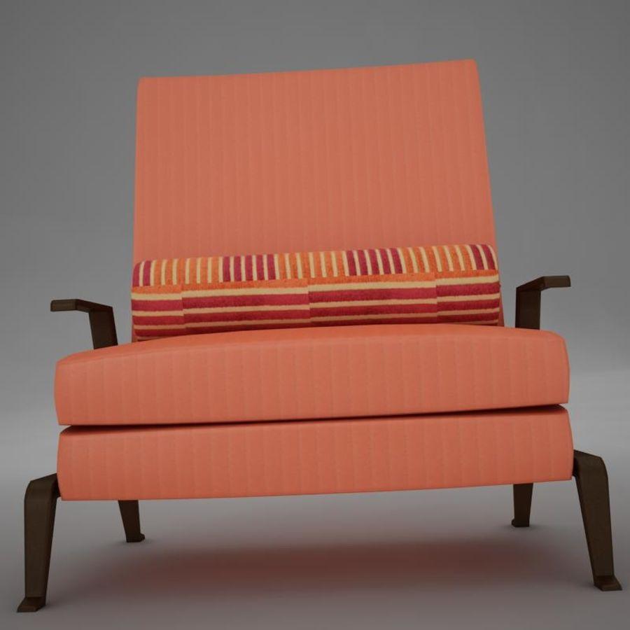 Stuhl moderner tropischer Klassiker royalty-free 3d model - Preview no. 7