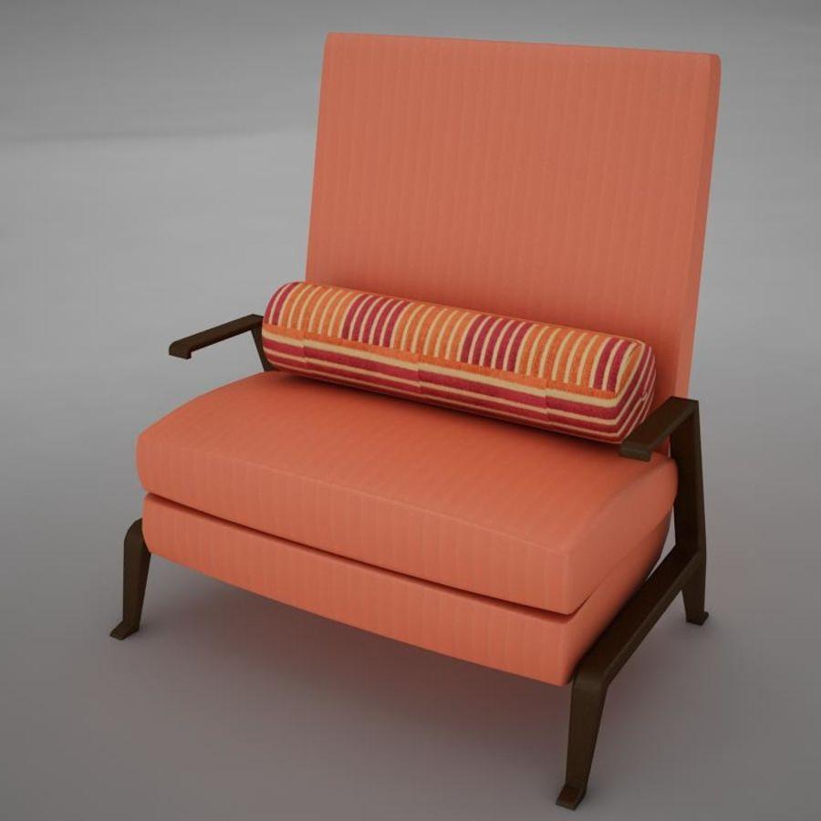 Stuhl moderner tropischer Klassiker royalty-free 3d model - Preview no. 9