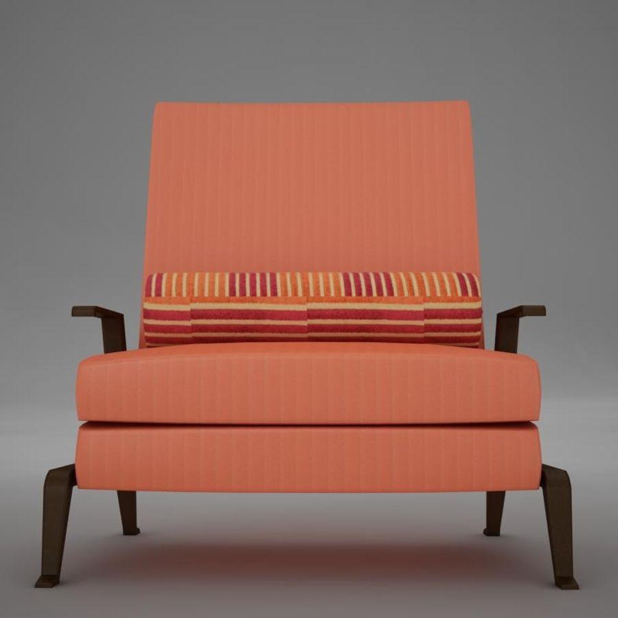 Stuhl moderner tropischer Klassiker royalty-free 3d model - Preview no. 8
