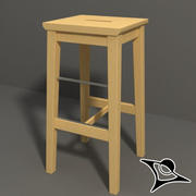 Ikea Wood Chair 3d model