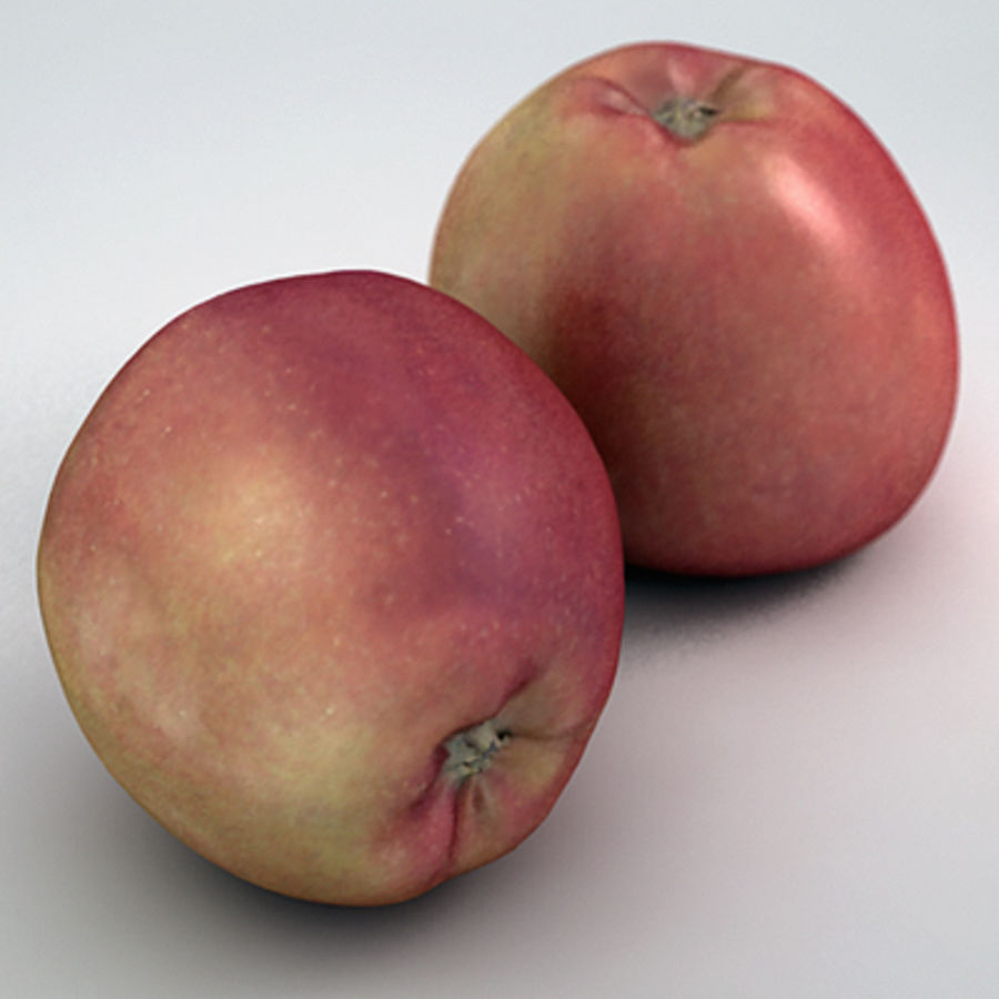 Apple (Red) royalty-free 3d model - Preview no. 4