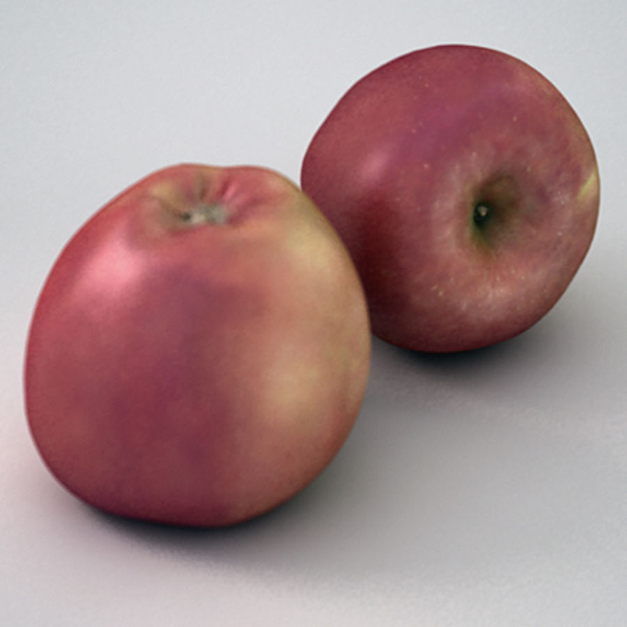 Apple (Red) royalty-free 3d model - Preview no. 2