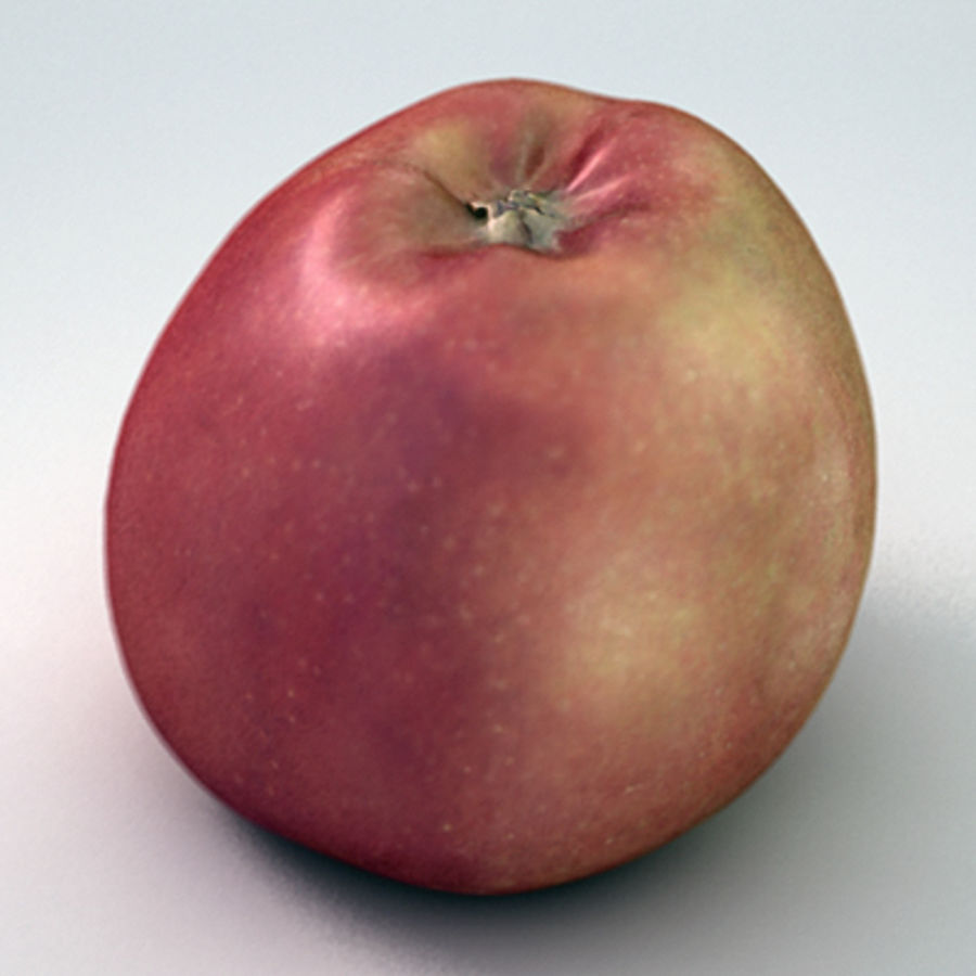 Apple (Red) royalty-free 3d model - Preview no. 1