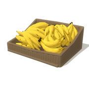 canasta de bananas modelo 3d